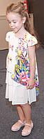 Детское платье для девочек, 21MONICA р. 128 см Белое