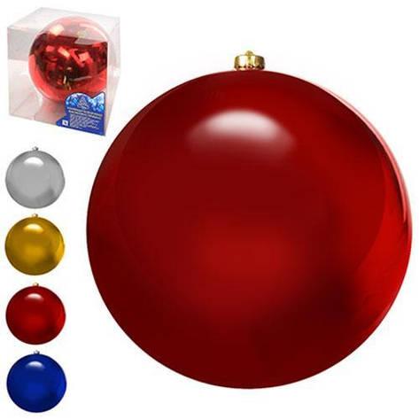 8580 Елочные шарики глянцевые 20см 1шт/кор (12шт), фото 2