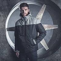 Зимняя мужская непромокаемая черная куртка парка Melange от бренда Bezet размер XS, S, M
