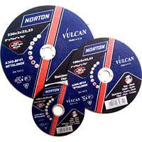 Круг зачисний по металу Norton Vulcan 125 x 6,4 x 22,23
