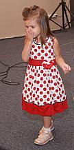 Детское платье для девочек,21GOROSHEK р. 104 см Бело-красное