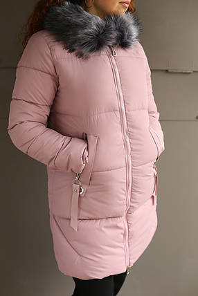 Пальто зимнее женское (пудра), фото 2