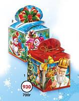Новогодняя подарочная коробочка для конфет и сладостей 700гр №930 КД.