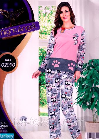 Пижама женская брюки и кофта качество лайкра Турция Night Angel № 02090, фото 2
