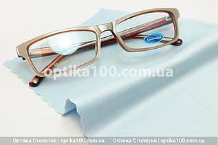 Блакитна серветка мікрофібра для окулярів. Преміальна якість