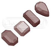 """Форма для шоколада """"Камешки"""" 35x20x26 мм"""