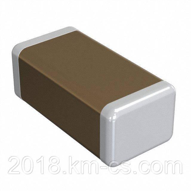 Конденсатор керамический, чип C-0603 100pF 50V 5% NP0 // C0603C101J5GACTU (KEMET)
