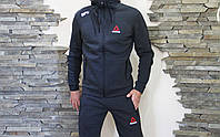 Мужской спортивный  костюм Reebok Рибок теплый   штаны   свитшот  (реплика)