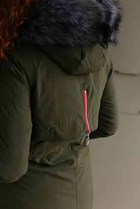 Пальто зимнее женское Xuechen (Хаки ), фото 2