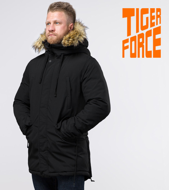 Tiger Force 76447   Парка мужская зимняя черная