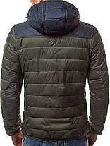 Зимняя куртка стеганая мужская J.Style цвета хаки, фото 3