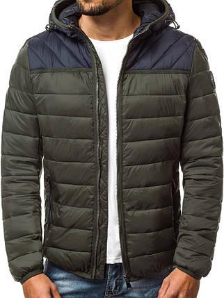 Зимняя куртка стеганая мужская J.Style цвета хаки, фото 2