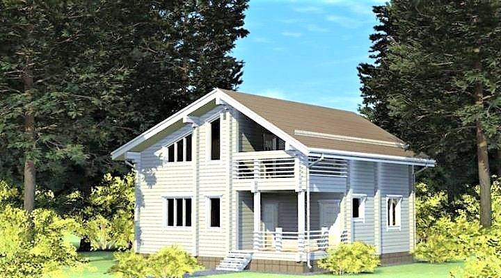 Дом деревянный из профилированного клееного бруса 10х9 м