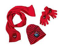 Тройка: Шапка+ шарфик+ перчатки Спайдермен, Микки Маус, фото 1