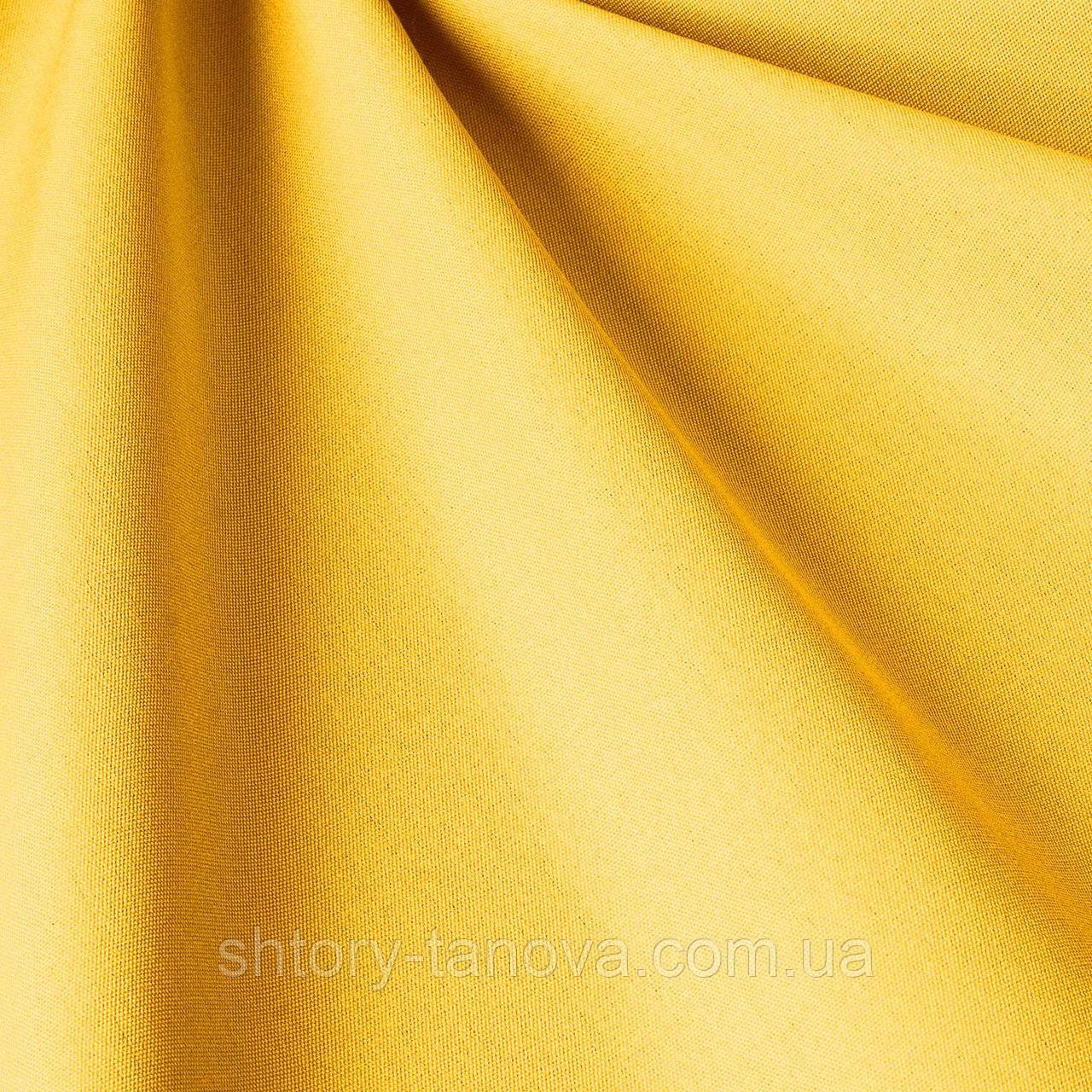 Однотонная акриловая ткань для улицы ярко-желтого цвета