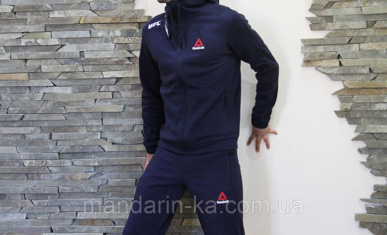 Мужской спортивный  костюм Reebok Рибок теплый   штаны   олимпийка  (реплика)
