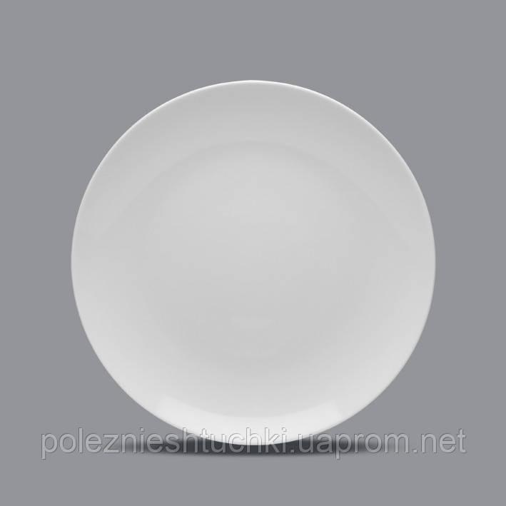 Тарелка круглая 31 см. фарфоровая, белая Boss, Lubiana