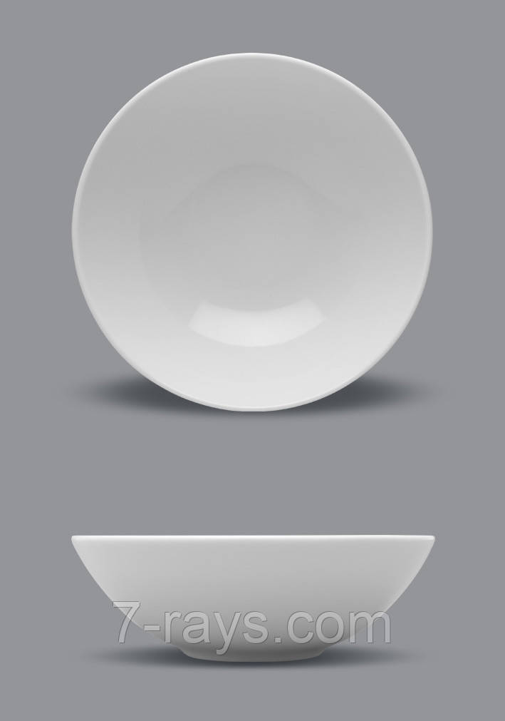 Тарелка глубокая круглая 300 мл., 18 см. фарфоровая, белая Boss, Lubiana