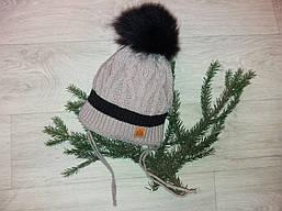 Вязаная шапка на мальчика (50-56)
