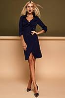 Красивое модное платье осень зима цвет: темно-синий, размер: S, M, L, XL