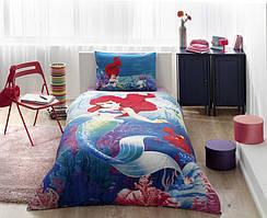Детский комплект постельного белья Tac Disney Ariel простынь на резинке
