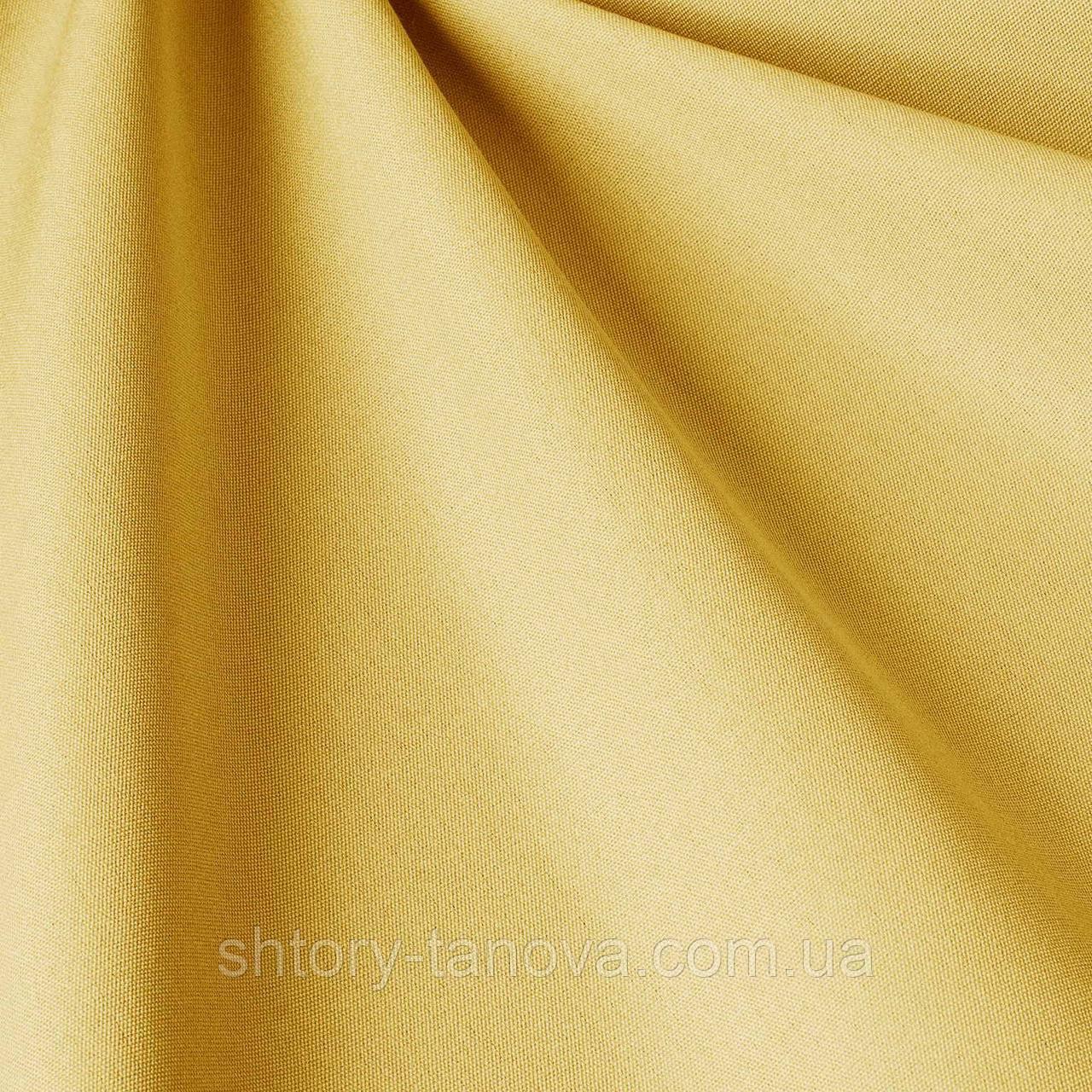 Однотонна тканина для вулиці світло-жовтого кольору