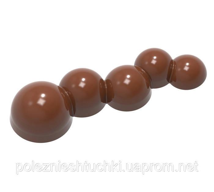 "Форма для шоколада ""Пузырьки"" 100x30x20 мм., 7 шт., 28 гр. из поликарбоната Chocolate World"