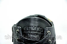 Мужские ботинки в стиле Levi's, зимние на меху Black, фото 3