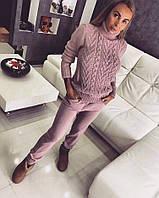 Костюм Doratti теплый двойная вязка свитер и брюки разные цвета Ddor263, фото 1