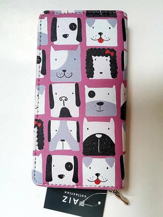 Женский кошелек с принтом «собаки и коты», фото 2