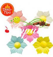 Цветы вафельные НАРЦИССЫ МИКС 50 мм ( 200 штук)