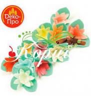 Цветы вафельные КАКТУС НА ТРИЛИСТНИКЕ 30 мм ( 200 штук)