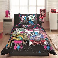 Детский комплект постельного белья Tac Disney Monster High простынь на резинке