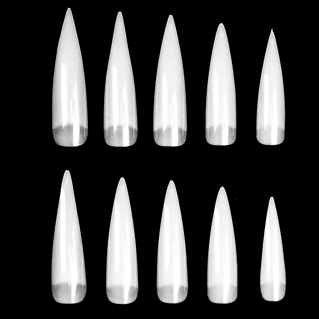 Острые накладные ногти Стилеты длинные 10 шт
