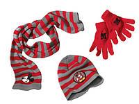 Тройка: Шапка+ шарфик+ перчатки Спайдермен, Микки Маус