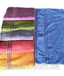 Махровое полотенце Сауна Полоски цвета в ассортименте. 6 расцветок Размер 80х160 100% хлопок