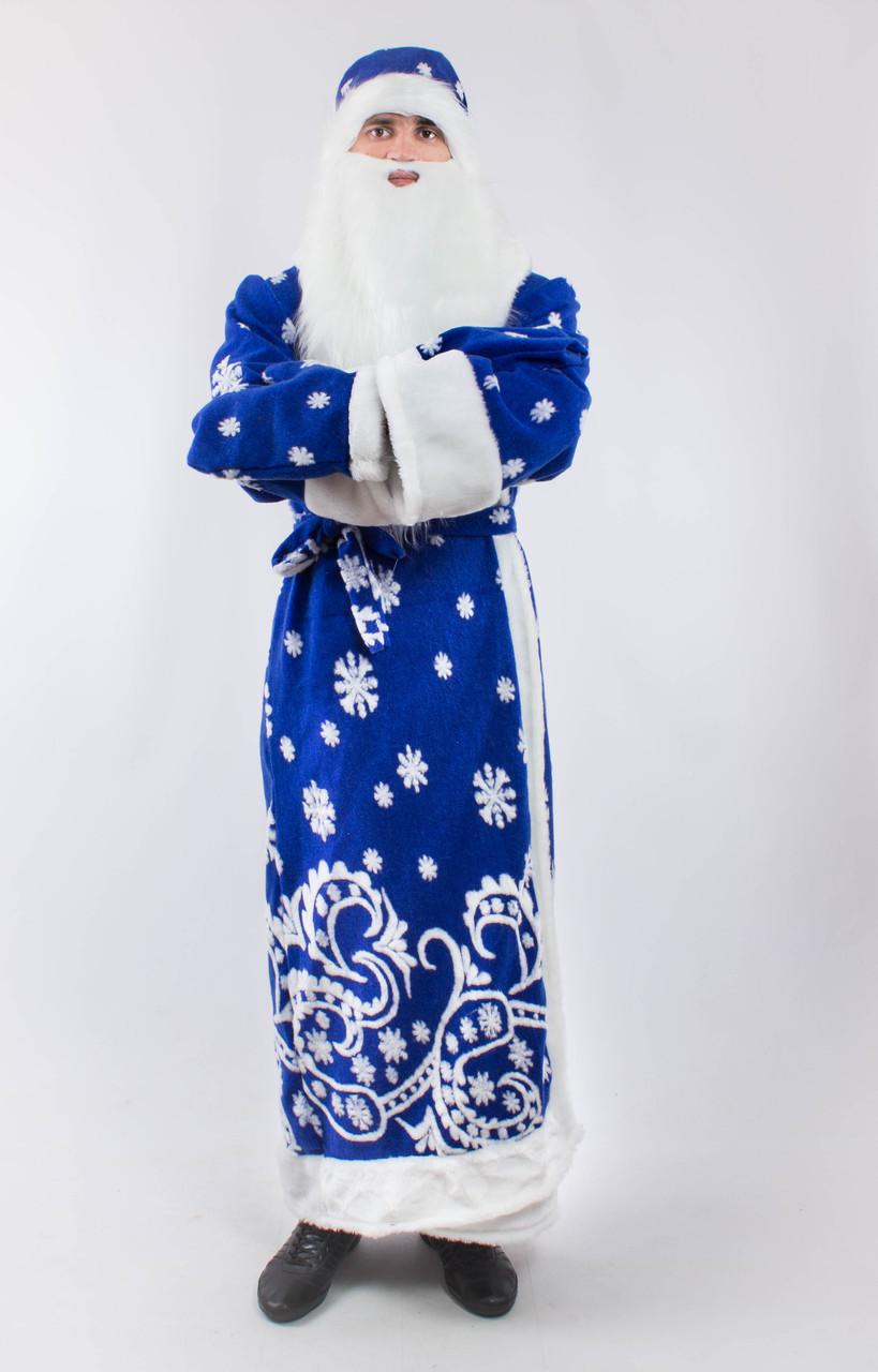 Карнавальный костюм Деда Мороза (Святого Николая) для взрослого со снежинками