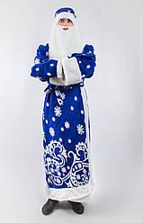 Карнавальний костюм Діда Мороза (Святого Миколая) для дорослого зі сніжинками
