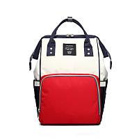 Рюкзак для мам СИНЕ-МОЛОЧНО-КРАСНАЯ UNI-12, фото 1