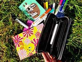 Женский кошелек с принтом «бульдоги», фото 3