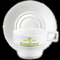 Чашка с блюдцем чай/латте 250 мл