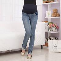 666805 Теплые джинсы для беременных M