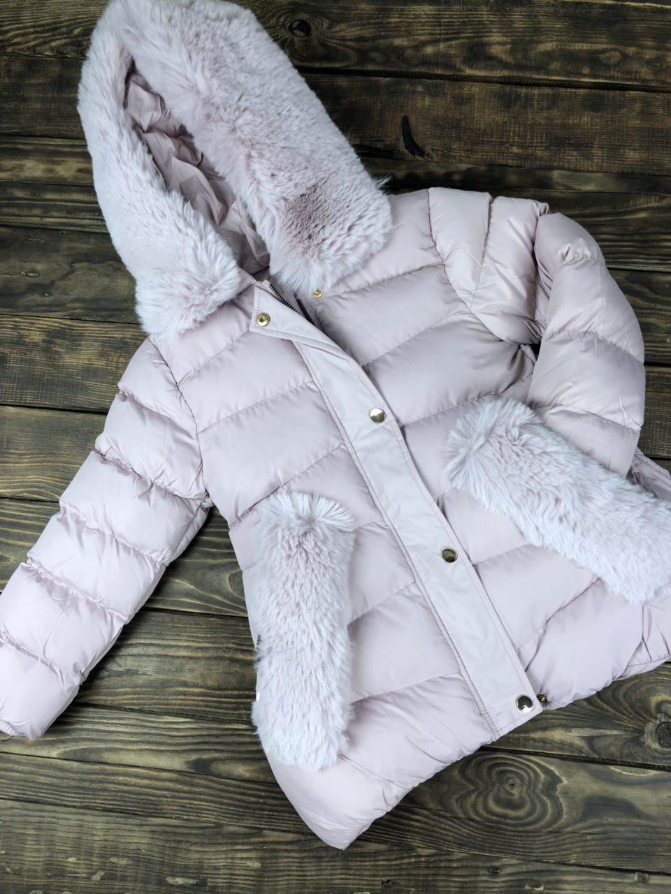 Куртка зимняя с капюшоном и мехом