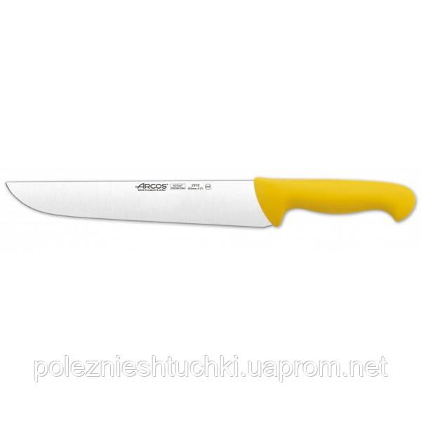 Нож для мяса 25 см, с полипропиленовой ручкой желтой 2900, Arcos