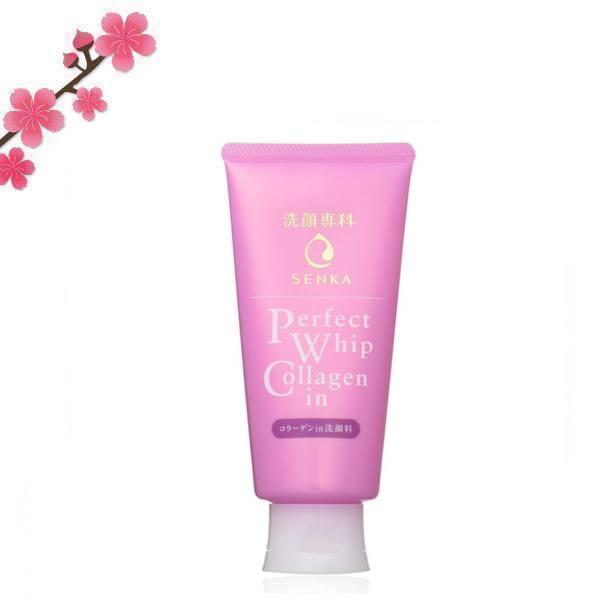 Shiseido Senka Perfect Whip Collagen In. Пенка для умывания от Шисайдо с коллагеном (для сухой кожи)