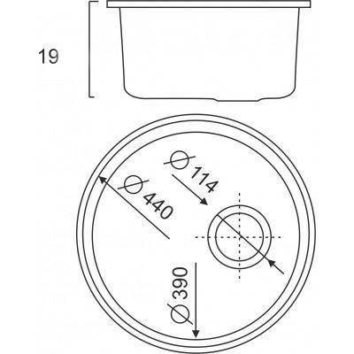 Кухонная мойка ULA из нержавеющей стали 7102 ZS satin 08мм, фото 2