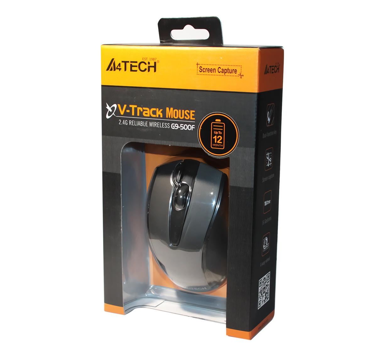 Мышь A4Tech G9-500F-1 V-Track, Black, USB, Wireless