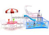 Детская игрушечная мебель Глория Gloria для кукол Барби Бассейн 2578. Обустройте кукольный домик , фото 5