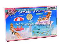 Детская игрушечная мебель Глория Gloria для кукол Барби Бассейн 2578. Обустройте кукольный домик