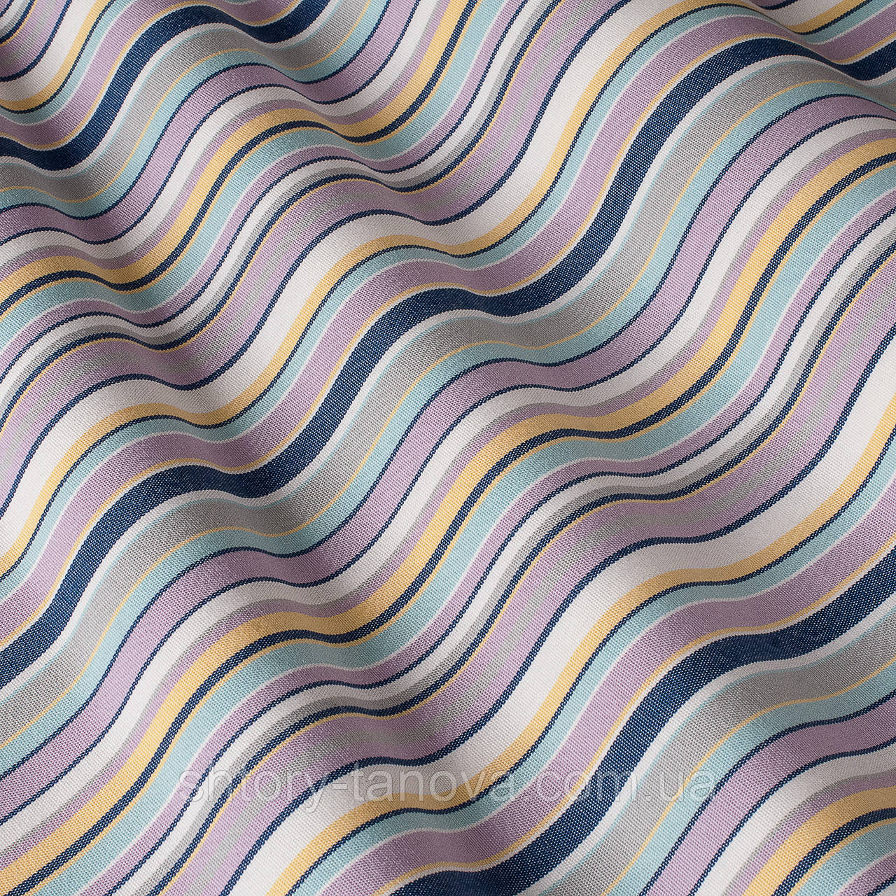 Уличная акриловая ткань в сиреневую и синюю полоску